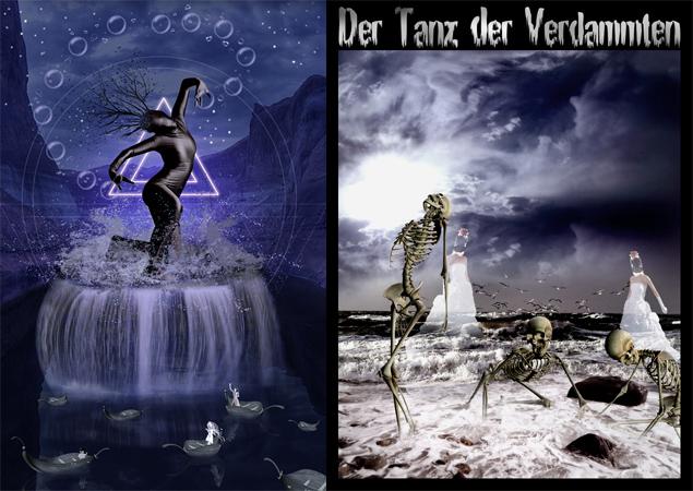 http://www.ranum.com/, Night Fate Stocks, JL stocks, www.obsidiandawn.com, Hawksmont Brushes  /  Background und Skelette von JLstocks (deviantart) Dame von xstockx (deviantart)