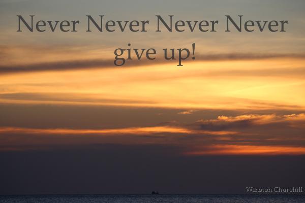 Gib nie nie nie nie auf!